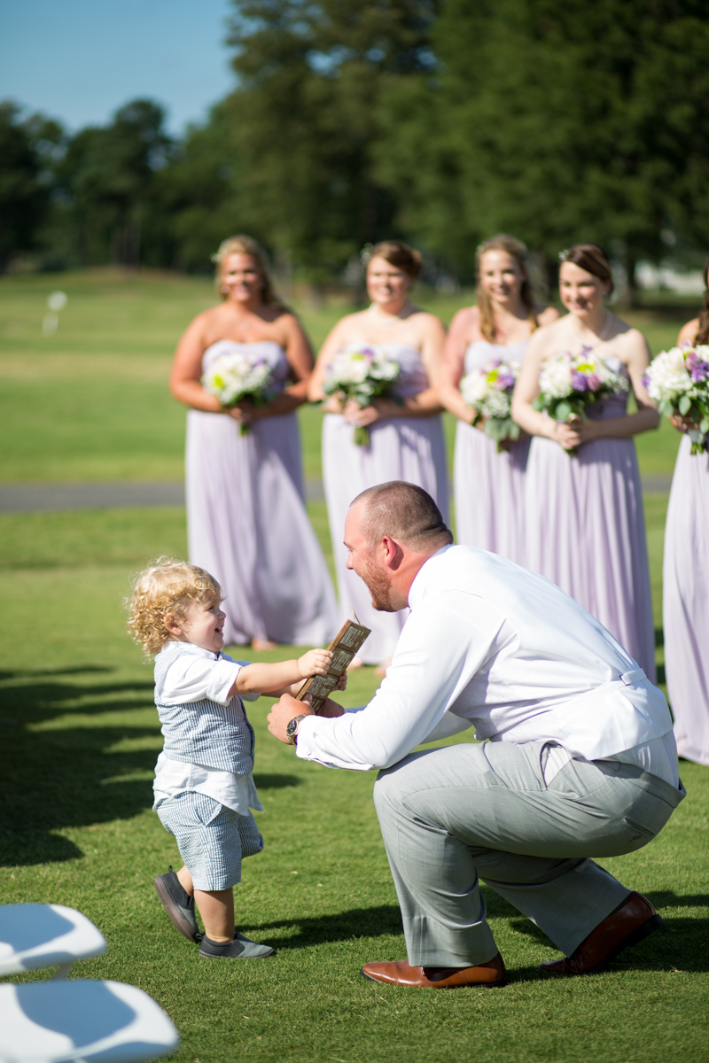 Lavender and Pale Green Virginia Beach Wedding | Ring Bearer