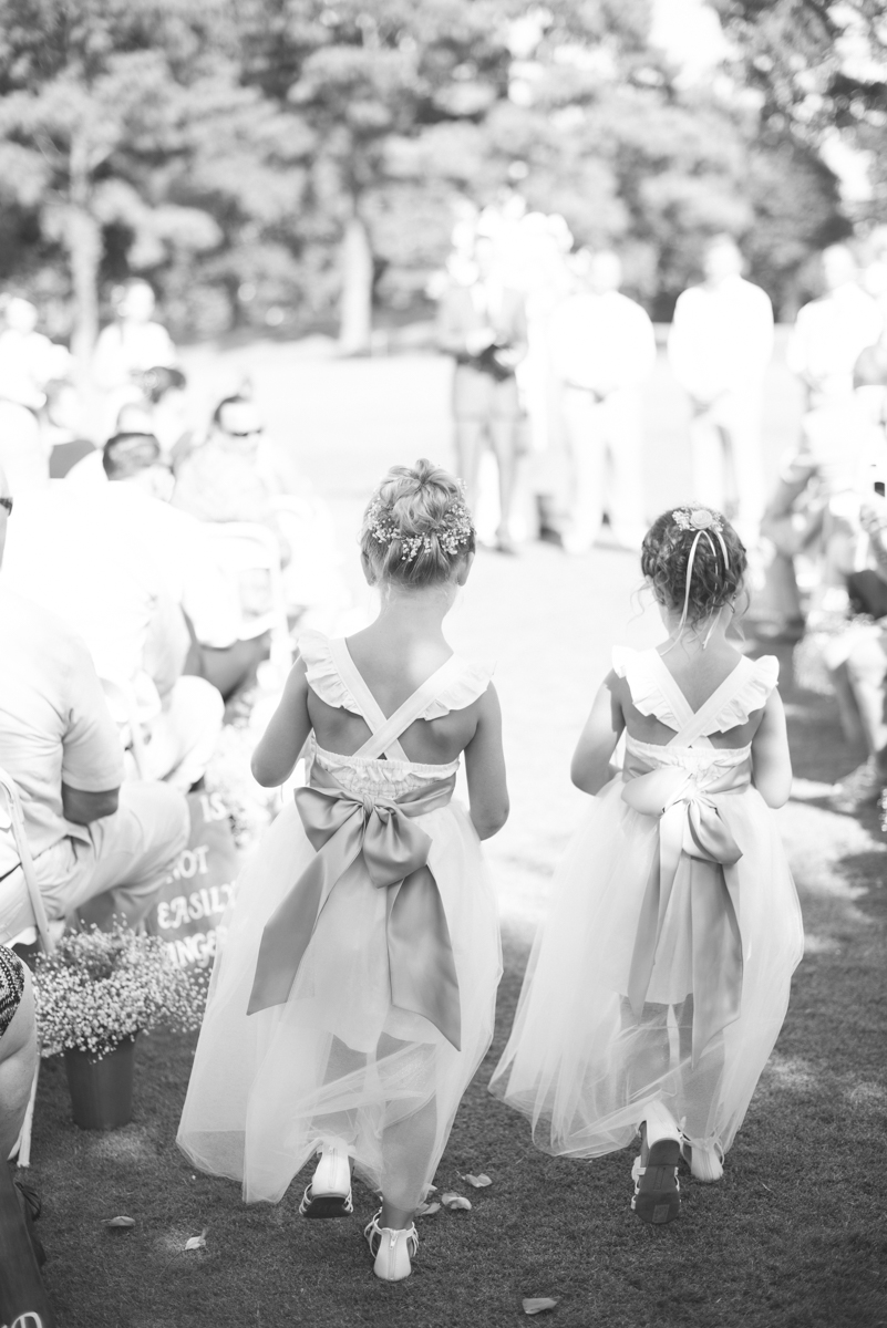 Lavender and Pale Green Virginia Beach Wedding | Flower Girls