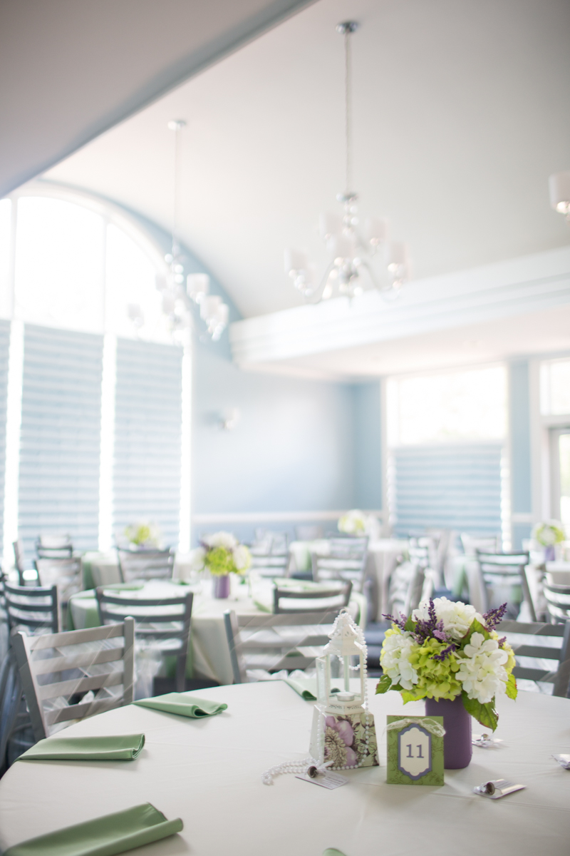 Lavender and Pale Green Virginia Beach Wedding | Purple and Green wedding reception