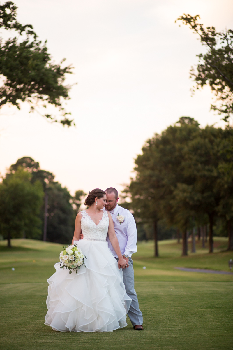 Lavender and Pale Green Virginia Beach Wedding | Bride and Groom Sunset Portraits