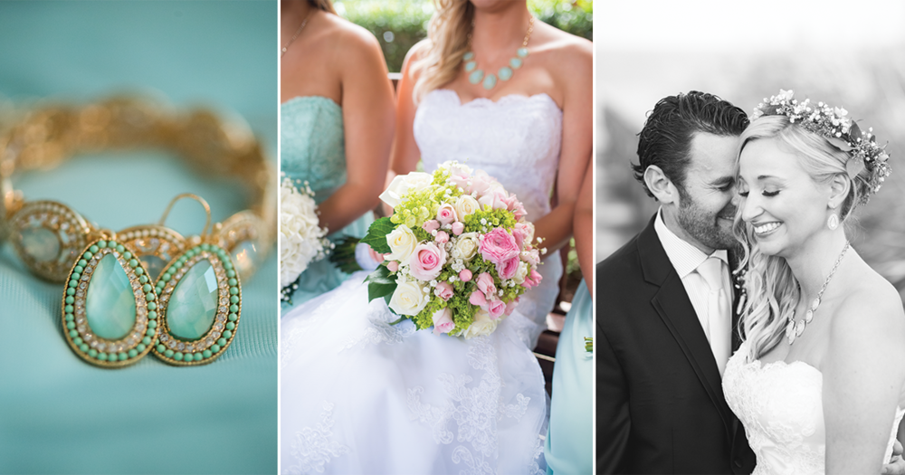 Gold and Teal Summer Wedding