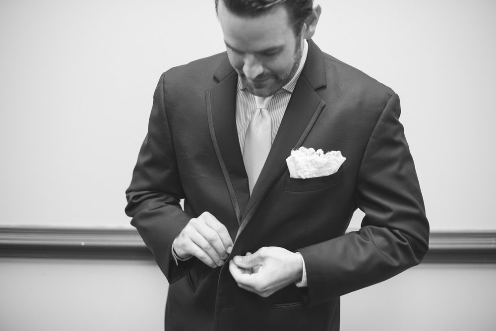 Gold and Teal Summer Wedding | Groom Getting Ready