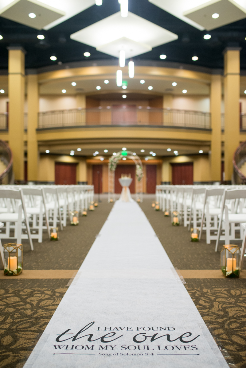 Gold and Teal Summer Wedding | Song of Solomon Aisle Runner