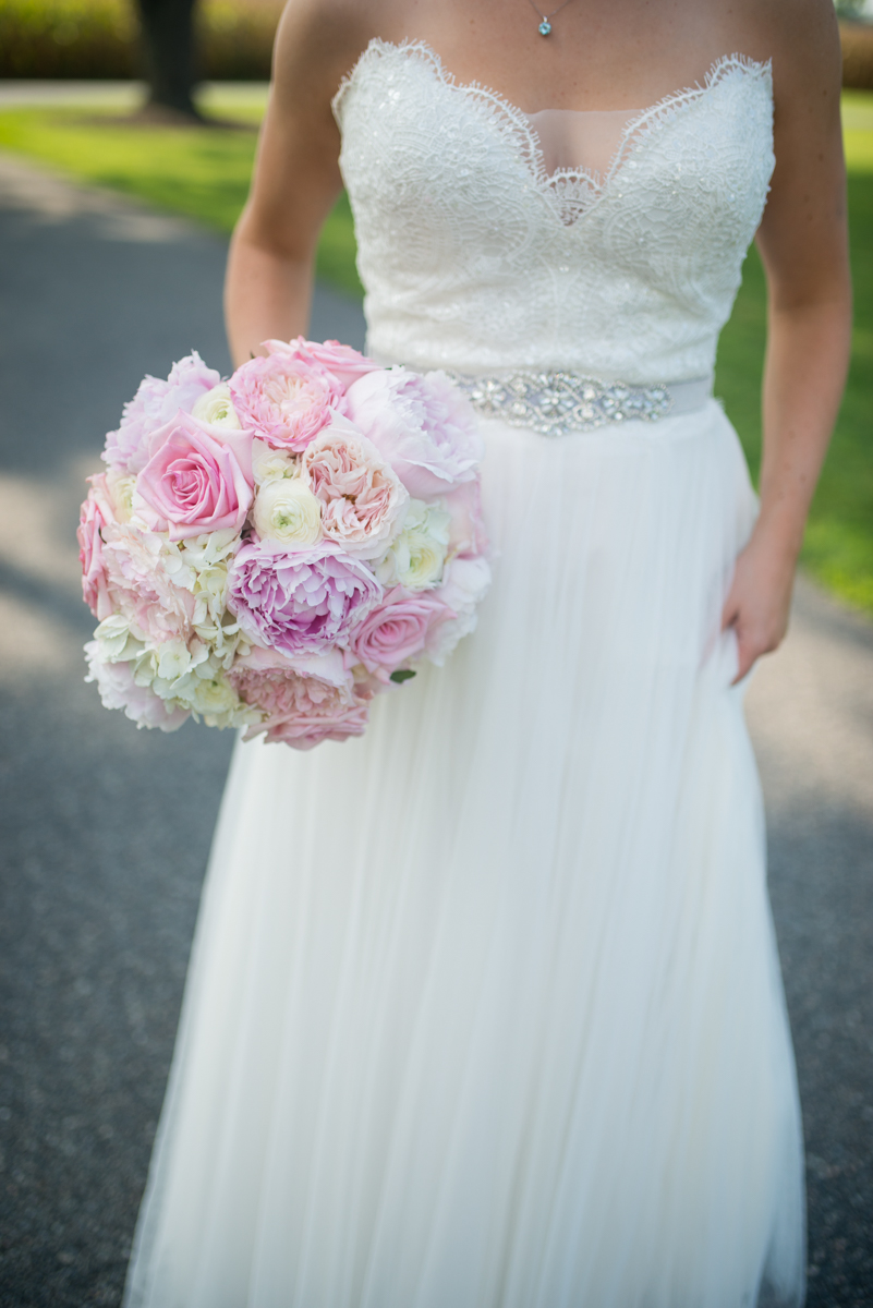 Elegant Navy and Blush Estate Wedding | Blush and White Peony and Rose Bouquet