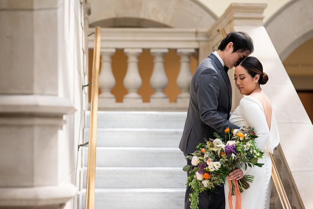 Elegant Museum Wedding Inspiration | Bride + Groom