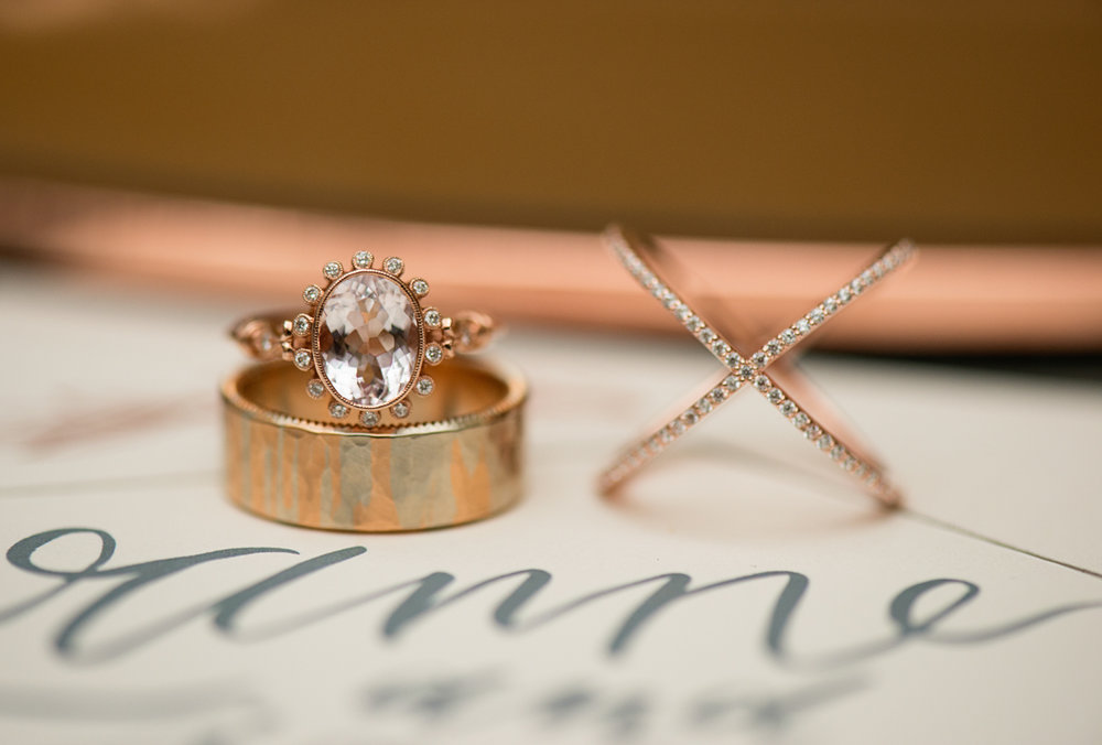 Elegant Museum Wedding Inspiration | Rose Gold and Copper Wedding Rings