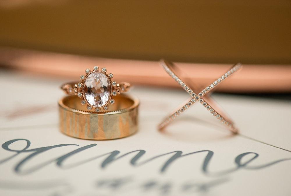 Elegant Museum Wedding Inspiration | Rose Gold and Copper Wedding Rings