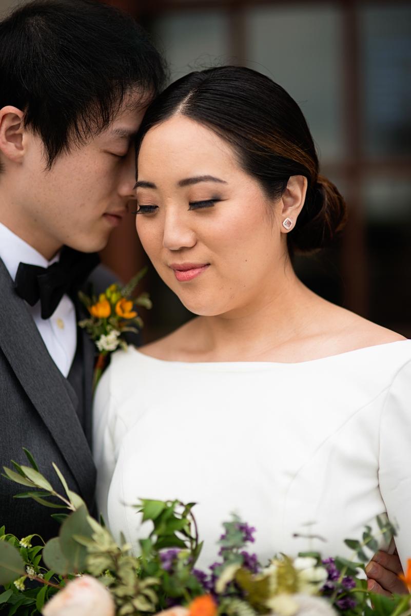 Elegant Museum Wedding Inspiration | Bride and Groom Museum Portrait