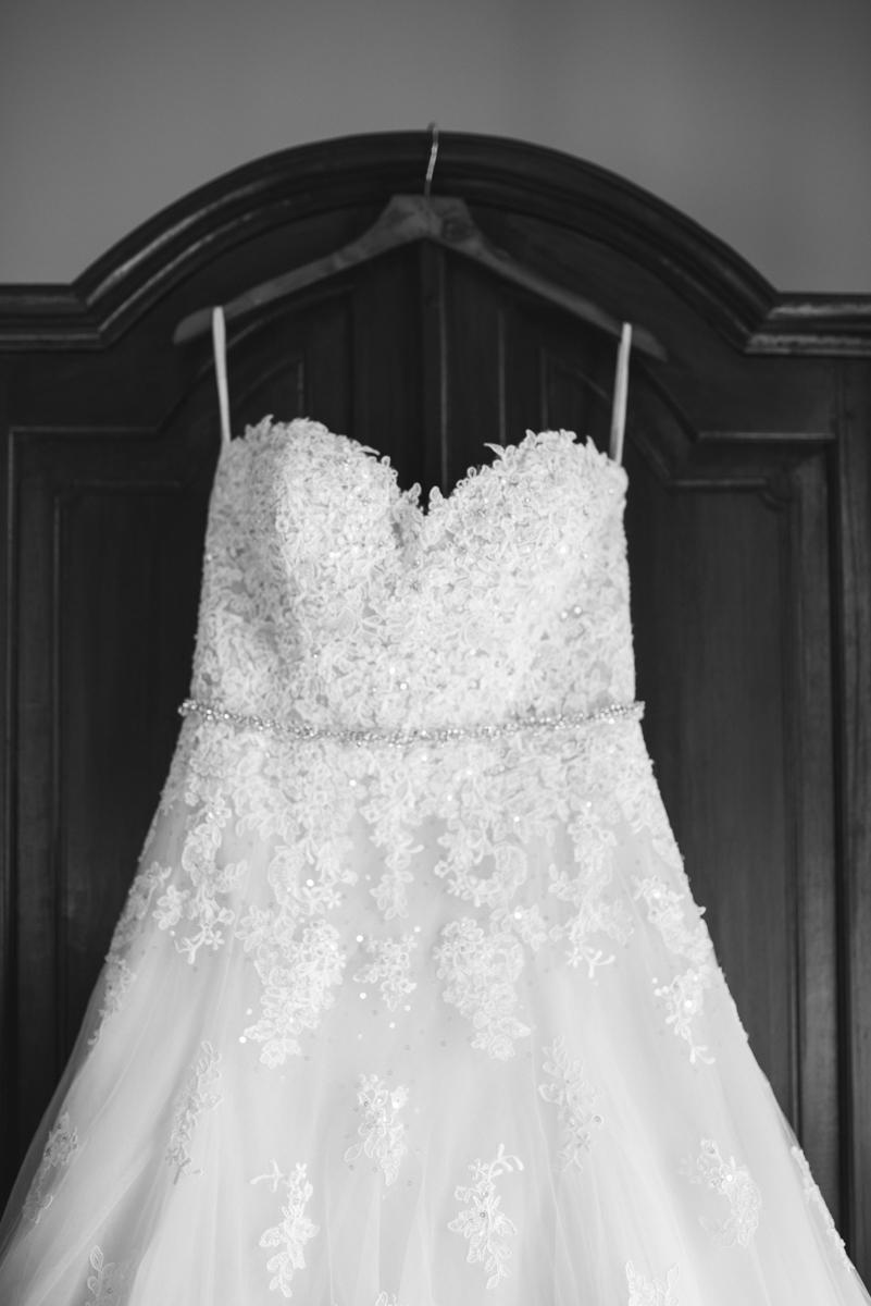 Powder Blue and Burgundy Fall Winery Wedding | Wedding Dress