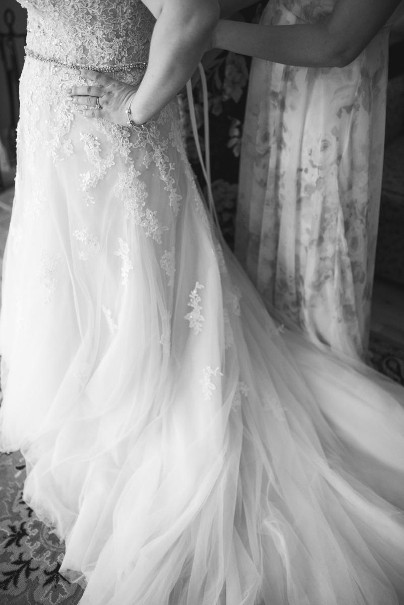 Powder Blue and Burgundy Fall Winery Wedding | Tulle Skirt Wedding Dress