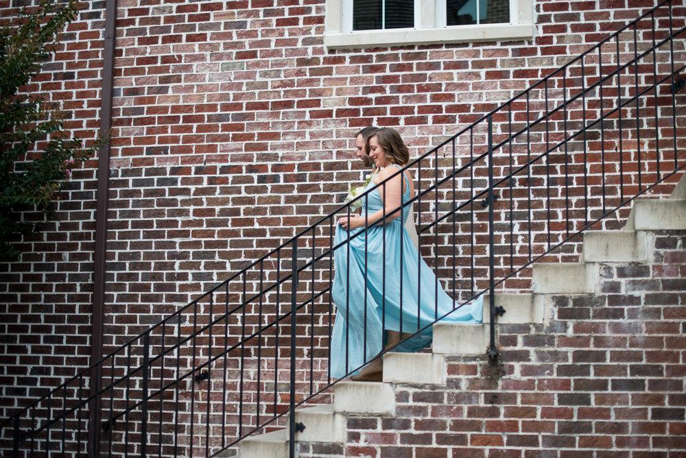 Powder Blue and Burgundy Fall Winery Wedding | Wedding ceremony