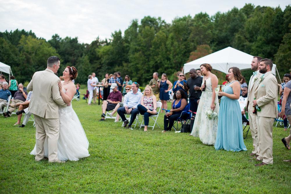 Powder Blue and Burgundy Fall Winery Wedding | Outdoor wedding reception