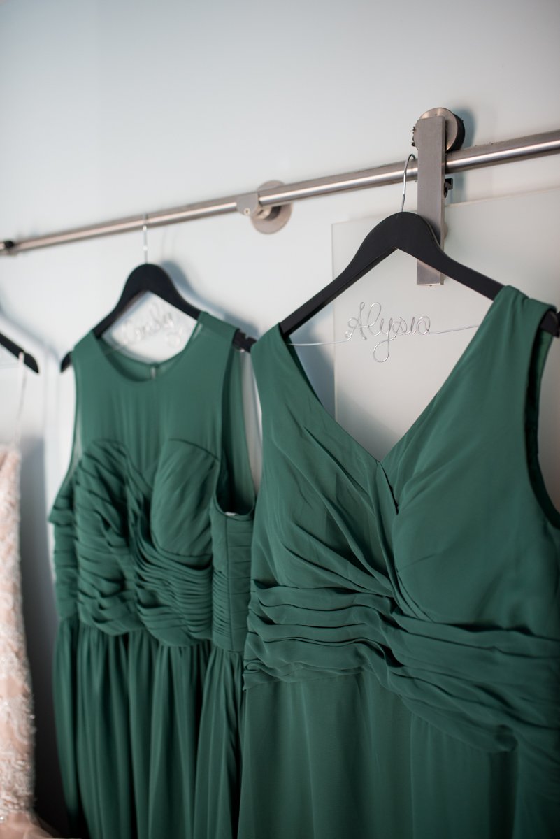 Downtown Classic Emerald and Black Tie Wedding | Emerald Green Bridesmaid Dresses