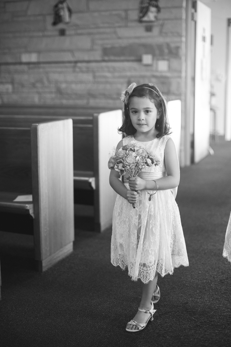 Marsala and White Wedding | Flower Girl