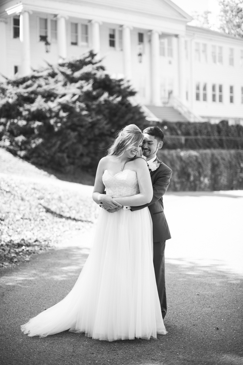 Marsala and White Estate Wedding | Bride and Groom Portraits