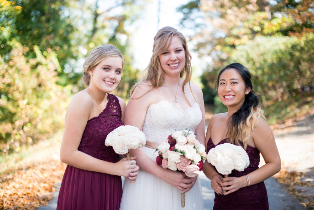 Marsala and White Estate Wedding | Bridal Party Portraits
