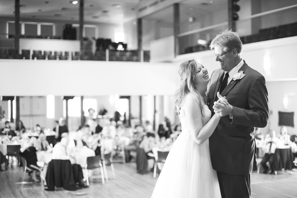 Marsala and White Estate Wedding | Father Daughter Dance