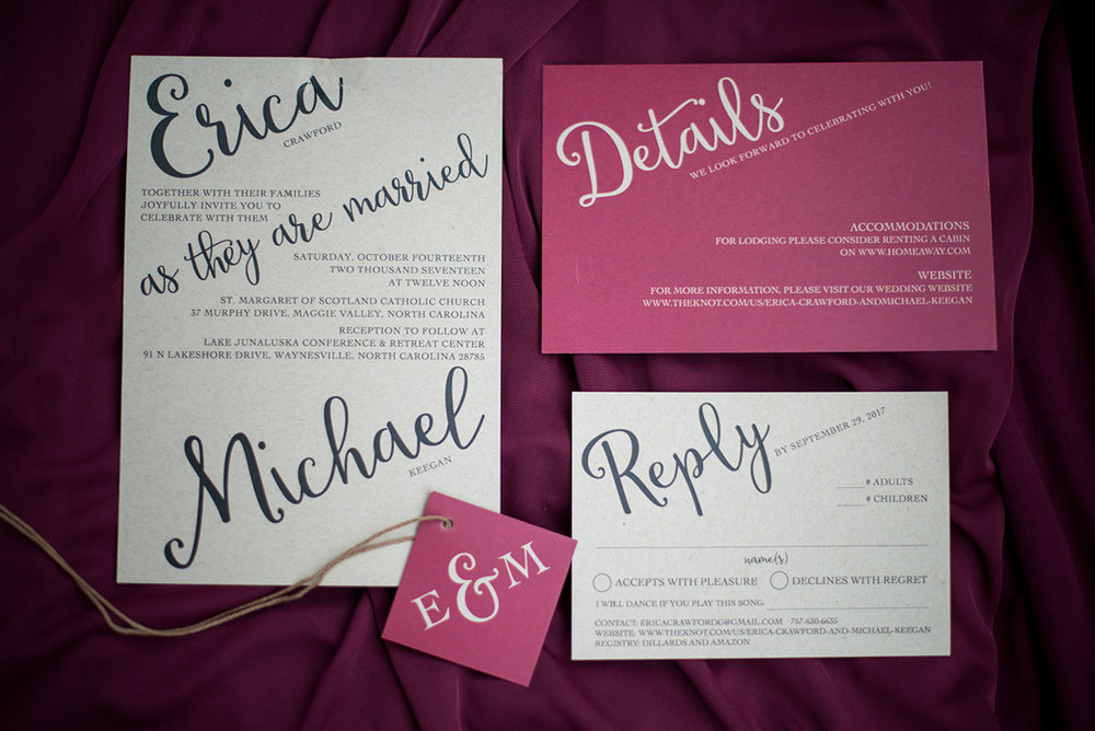 Marsala and White Wedding | Marsala and White Wedding Invitations