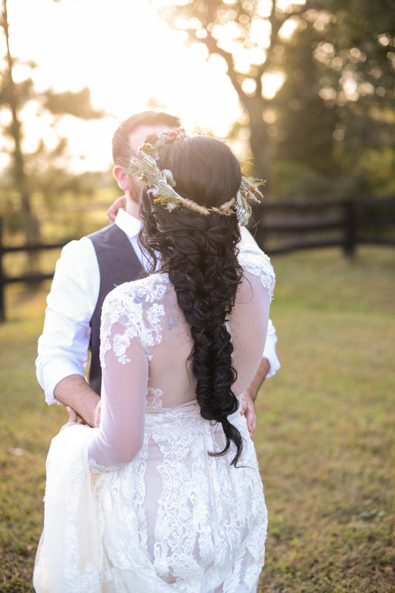 Intimate Boho Elopement | Fishtail Braid Bridal Hair