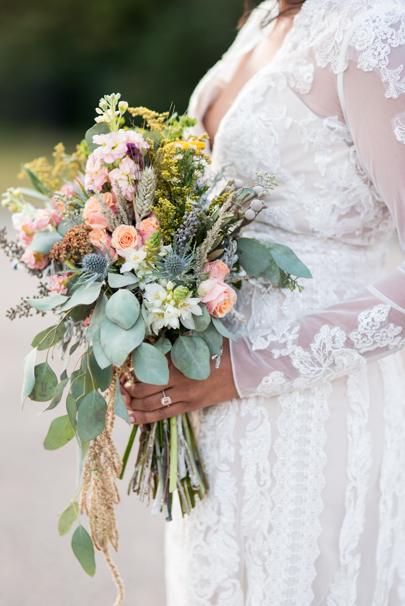 Intimate Boho Elopement | Wildflower Bridal Bouquet
