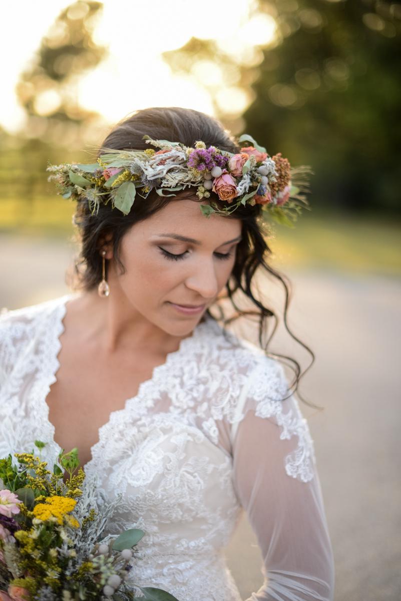 Intimate Boho Elopement | Bohemian Bridal Portrait