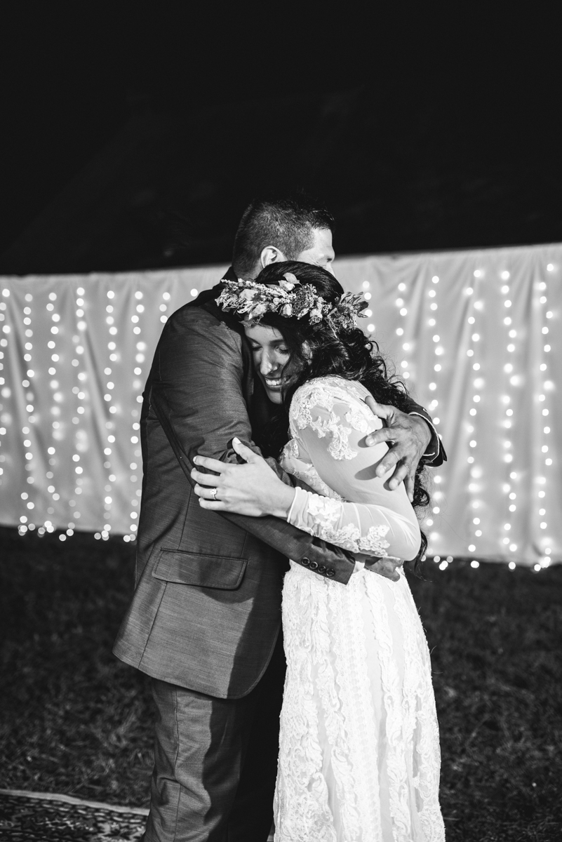 Intimate Boho Elopement | Father Daughter Dance
