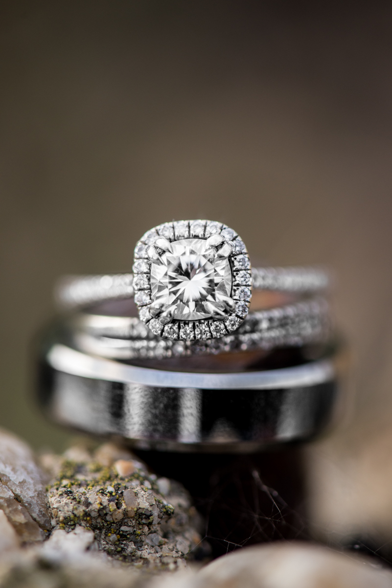 Stunning Engagement and Wedding Ring Shot