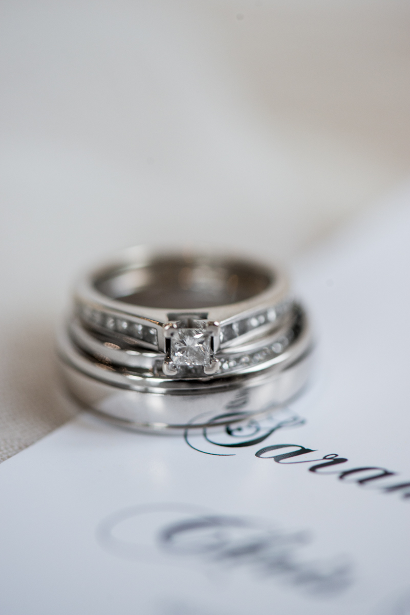 Gold and Burgundy Winter Winery Wedding | Invitation Ring Shot