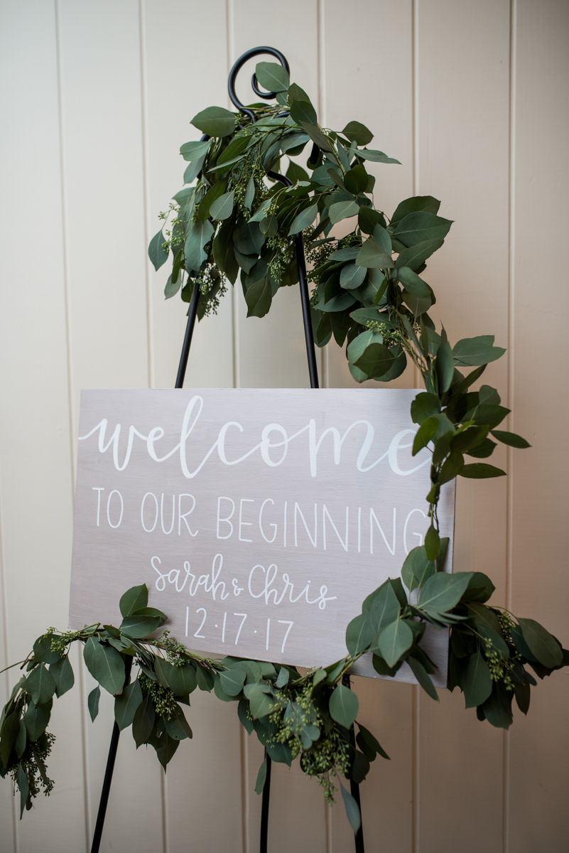 Gold and Burgundy Winter Winery Wedding | Wedding Welcome Sign