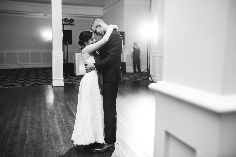 Gold and Burgundy Winter Winery Wedding | Bride and Groom First Dance