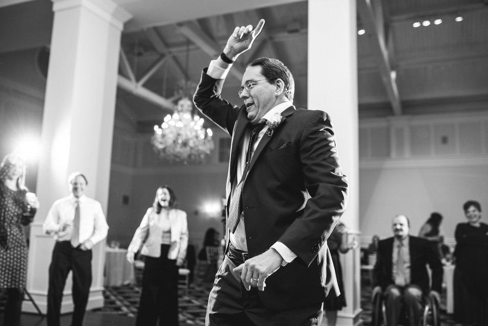 Gold and Burgundy Winter Winery Wedding | Wedding Reception Dancing