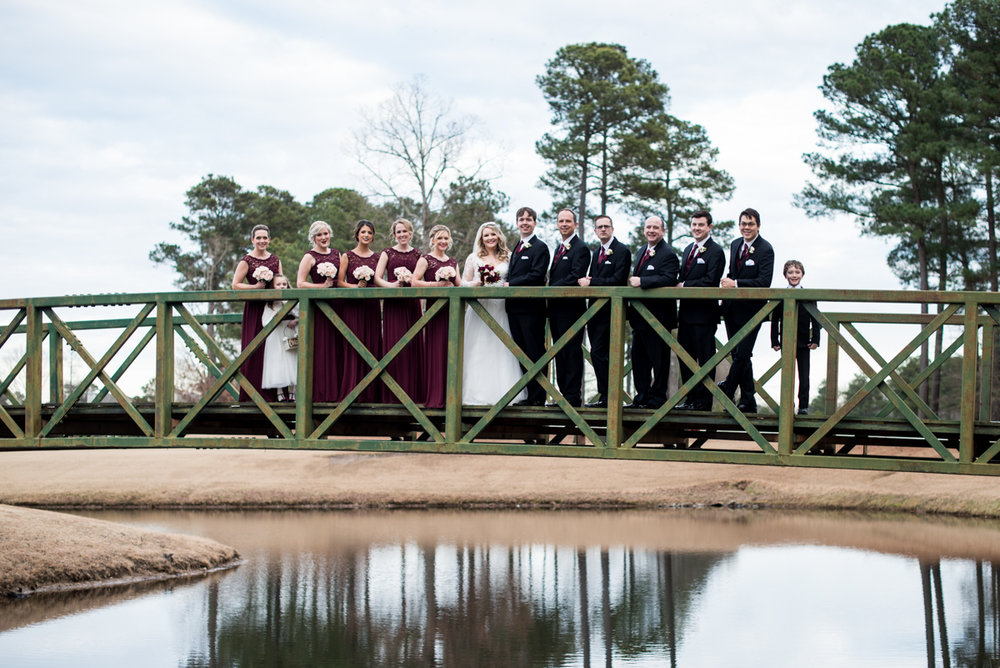 Burgundy and Blush Winter Wedding | Burgundy and Black Bridal Party