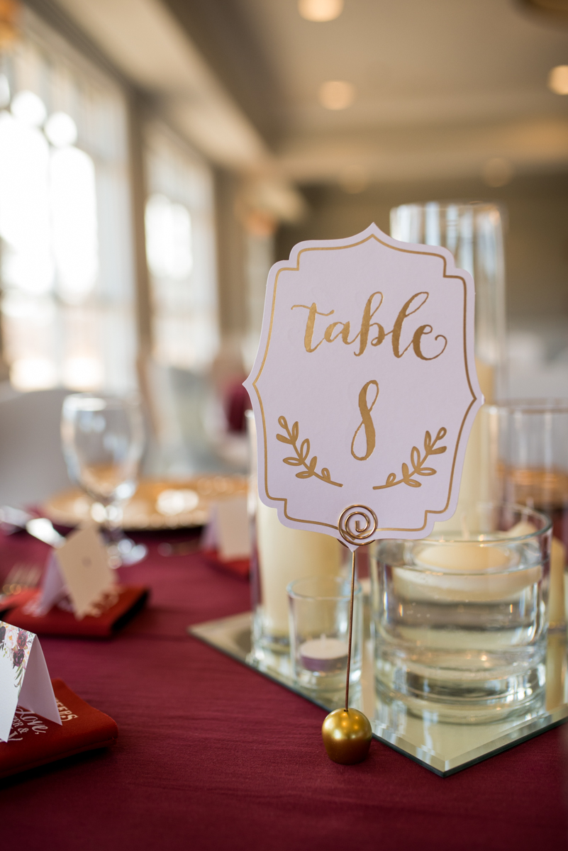 Burgundy and Blush Winter Wedding | Burgundy, gold, and blush wedding reception