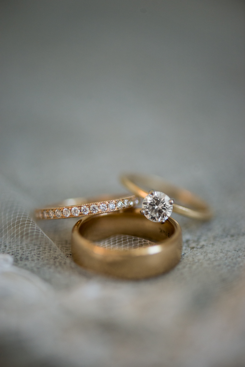 Navy, Wine, and Gold Charleston Wedding | Gold Wedding Rings
