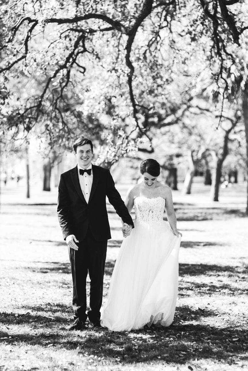 Navy, Wine, and Gold Charleston Wedding | Bride and Groom Portraits