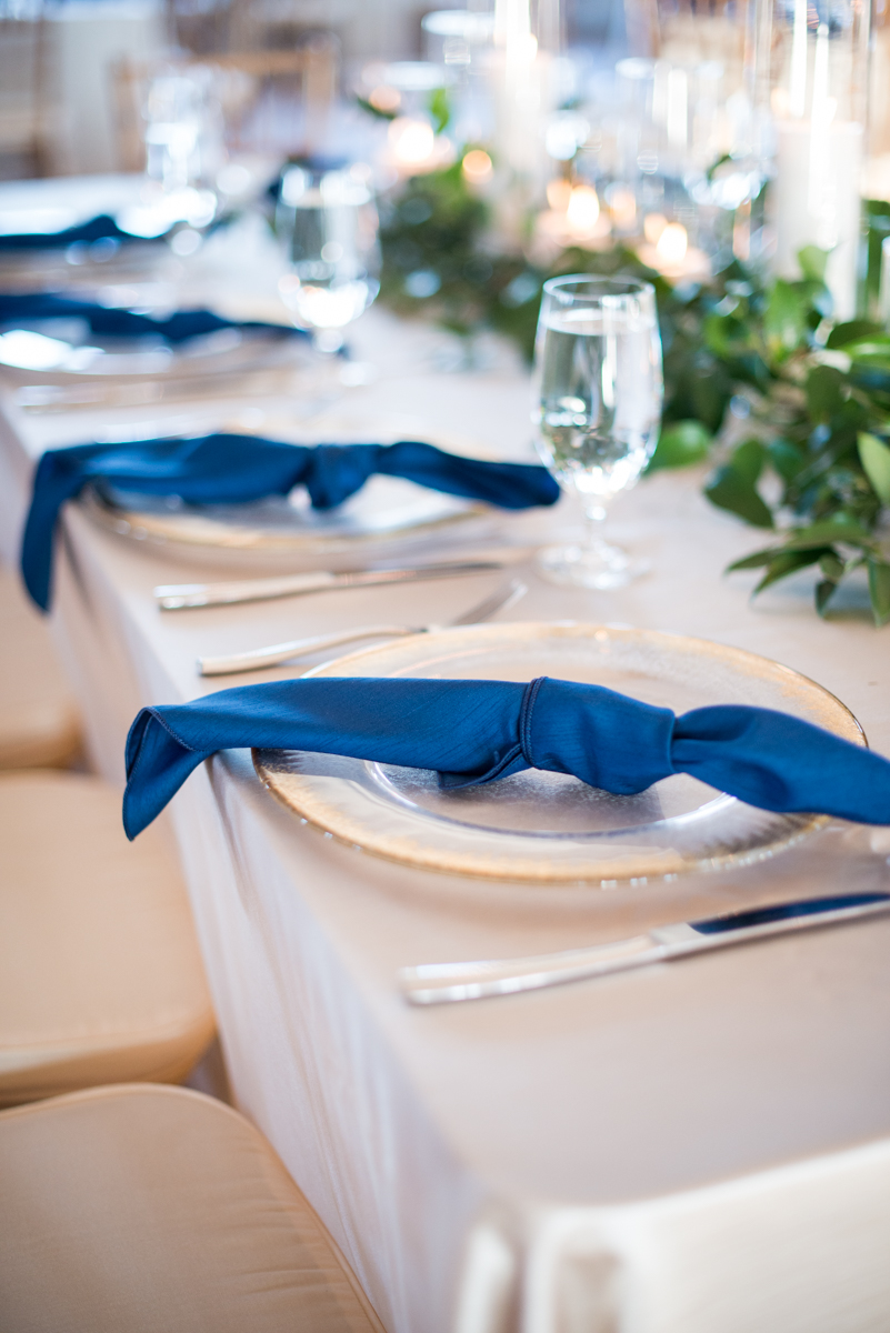 Navy, Wine, and Gold Charleston Wedding | Navy and Gold Wedding Reception