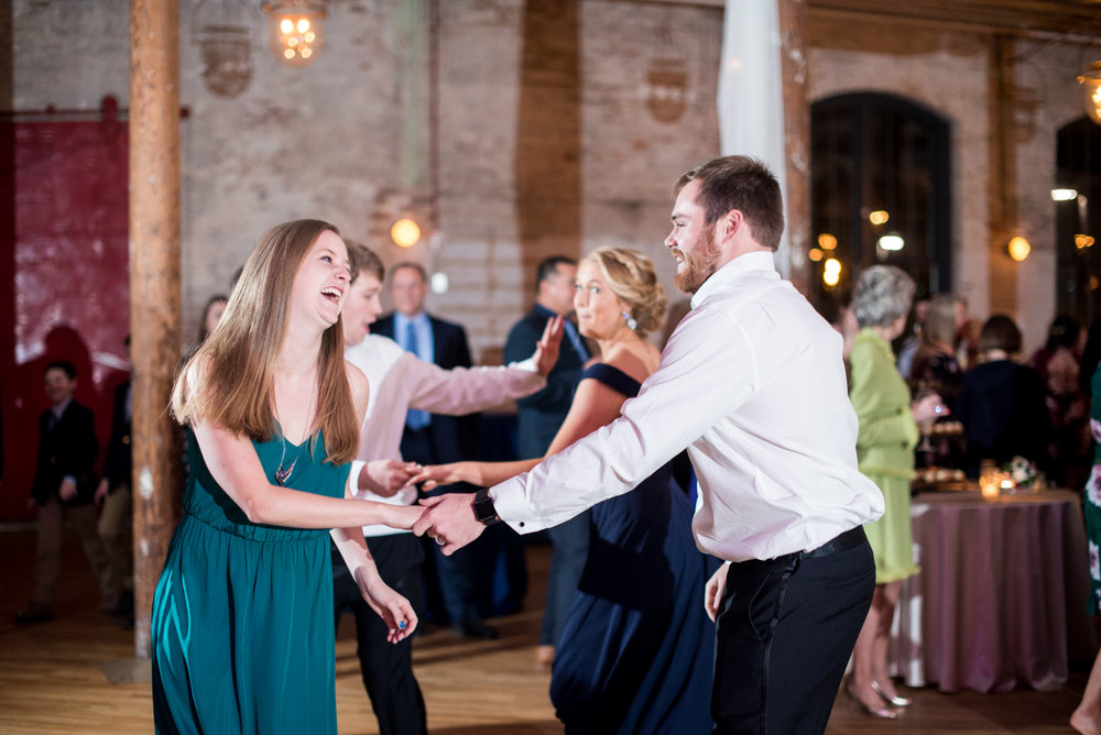 Navy, Wine, and Gold Charleston Wedding | Wedding Reception Dancing