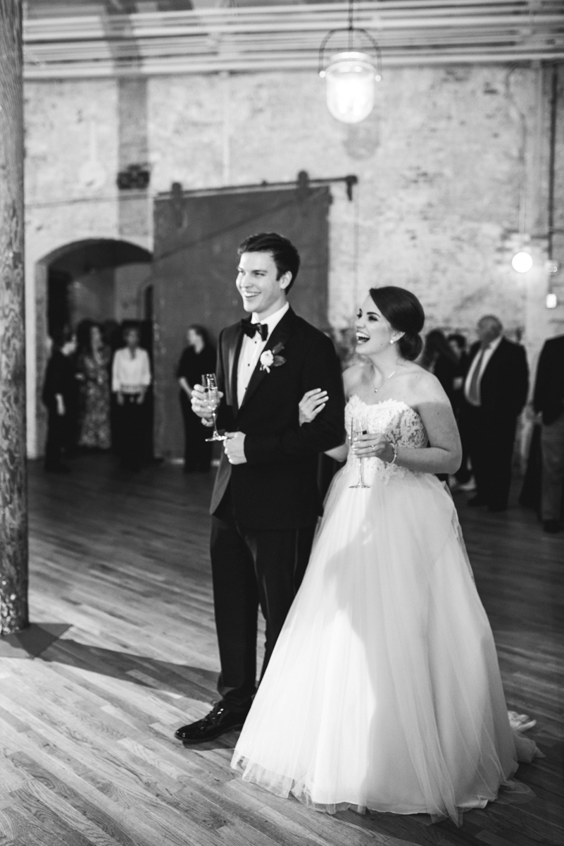 Navy, Wine, and Gold Charleston Wedding | Wedding Reception Toasts