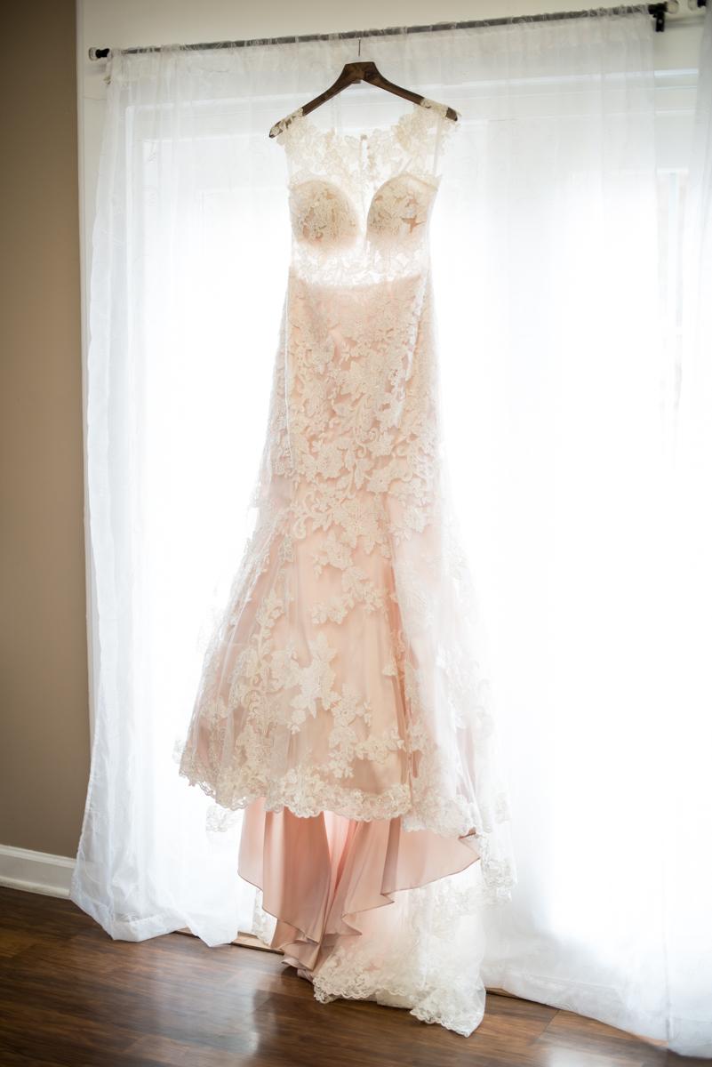 Burgundy + White Spring Wedding | Blush Wedding Dress