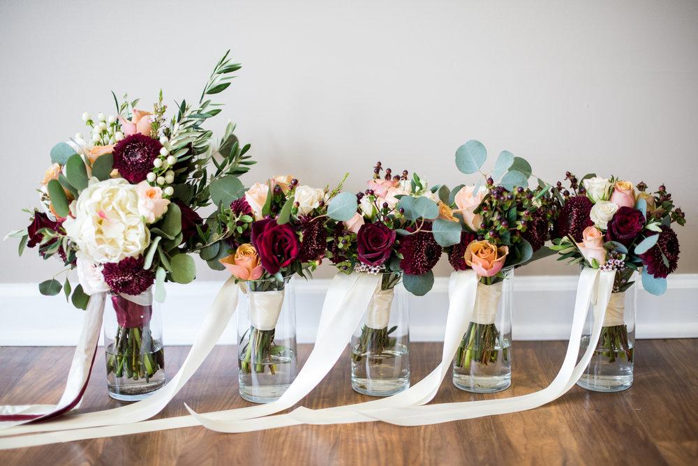 Burgundy + White Spring Wedding | Burgundy and White Wedding Flowers