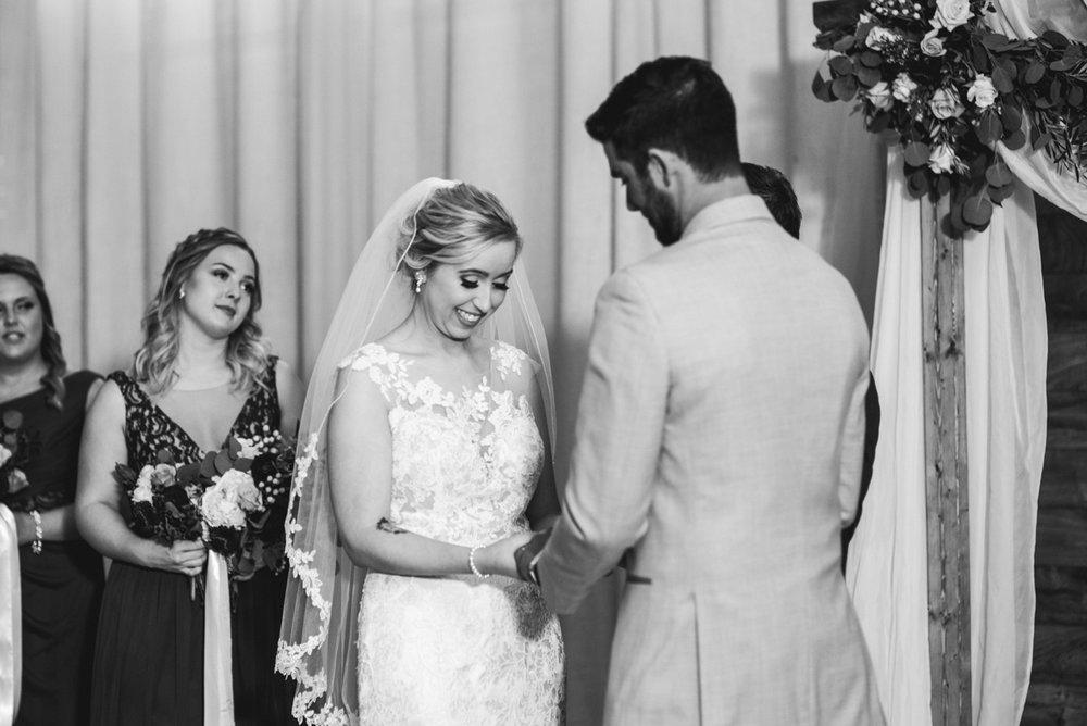 Burgundy + White Spring Wedding | Wedding ceremony