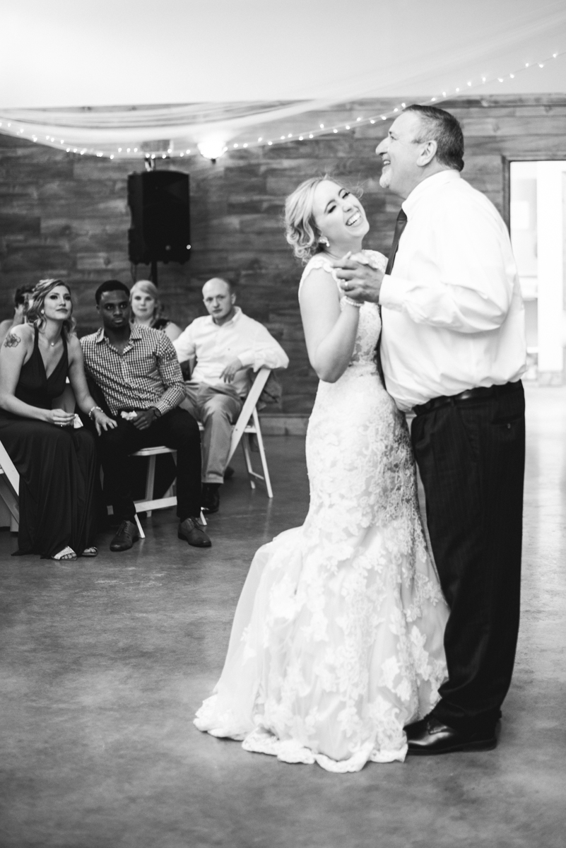 Burgundy + White Spring Wedding | Wedding reception father/daughter dance