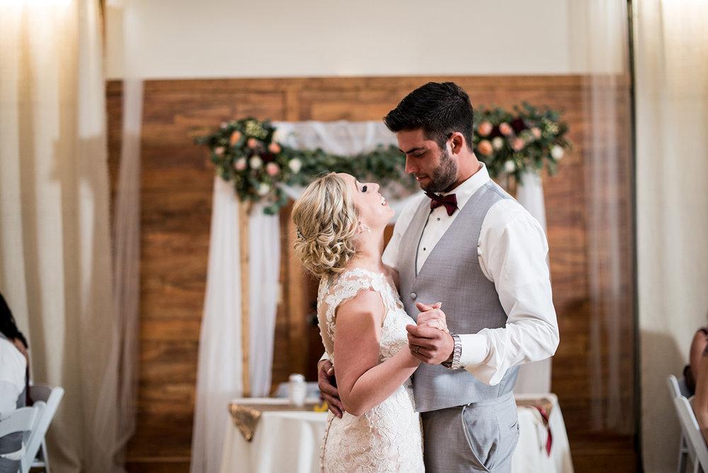 Burgundy + White Spring Wedding | Wedding reception