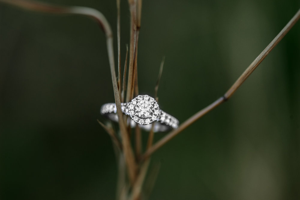 Greenery Engagement Ring Shot