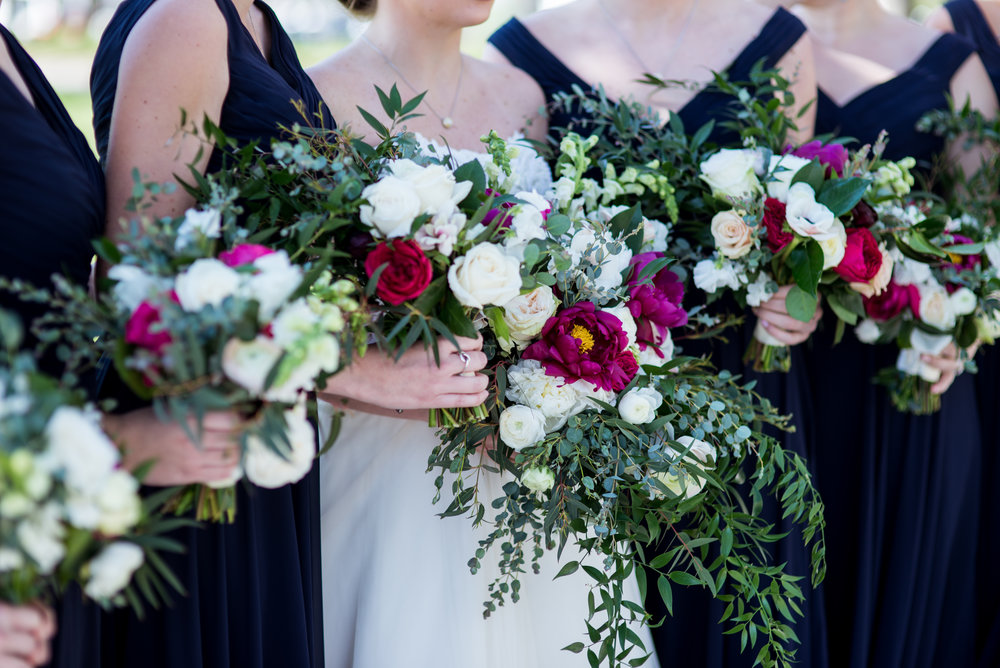 Rustic Sunflower Bridesmaid Bouquets