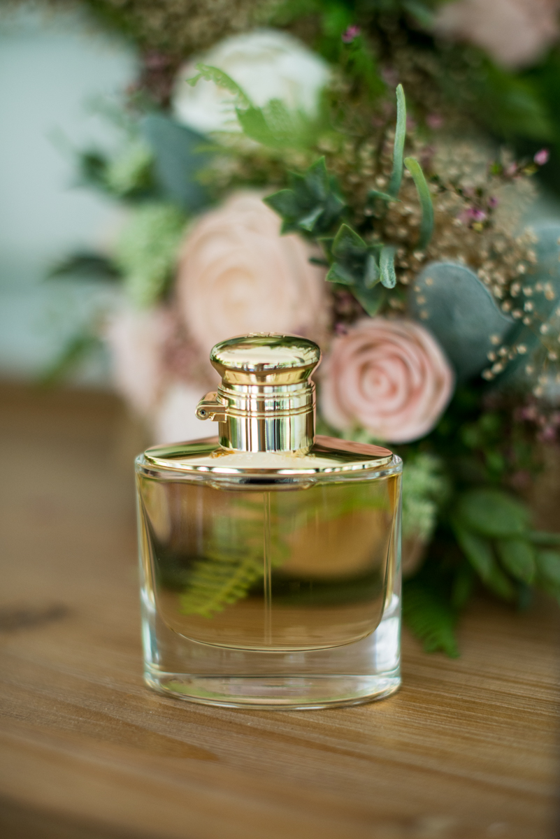 Elegant and Intimate Winery Wedding | Bride's perfume