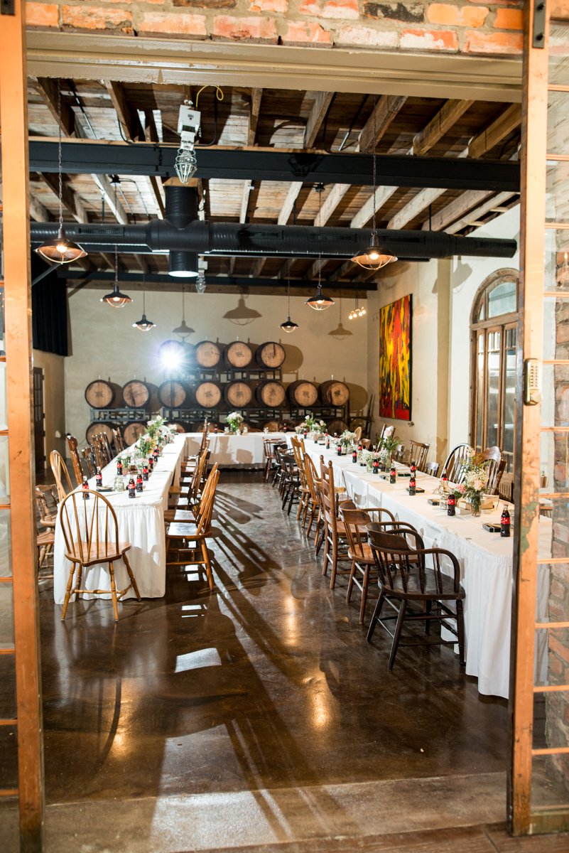 Elegant and Intimate Winery Wedding | Blush and white winery reception