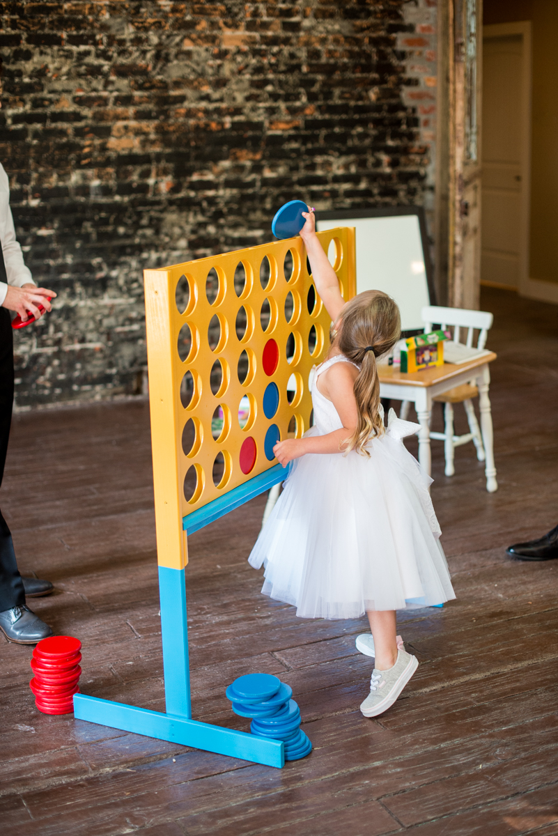 Elegant and Intimate Winery Wedding | Giant Connect Four reception game