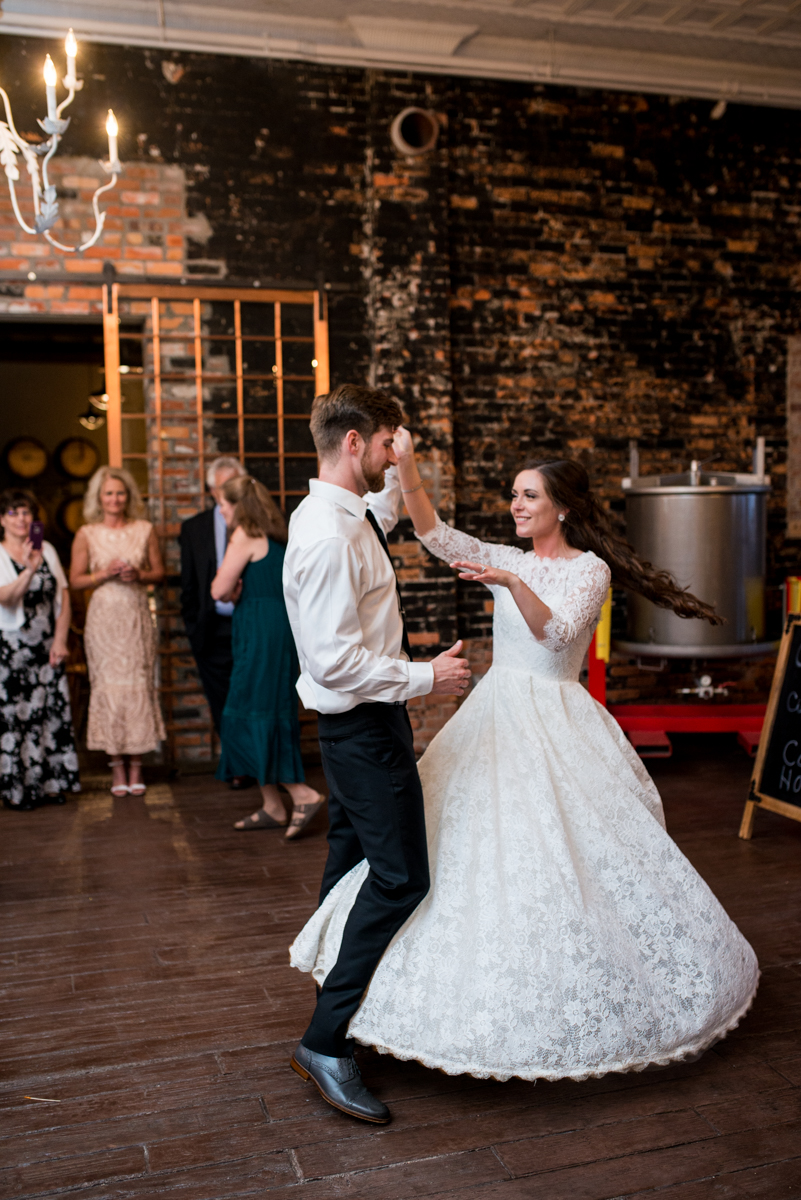 Elegant and Intimate Winery Wedding | Bride and groom first dance