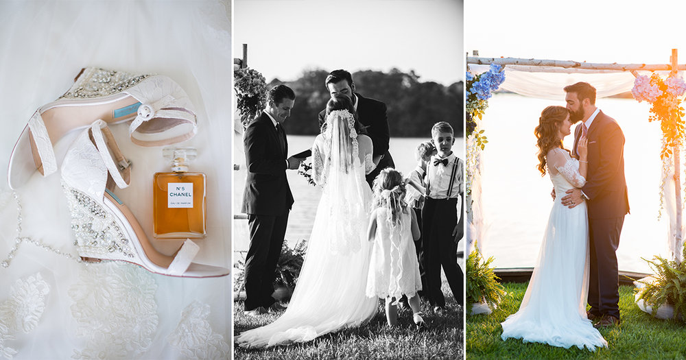 Intimate Backyard Chesapeake Wedding on the Water